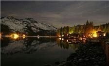 Donner Lake Village Night image