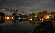Donner Lake Village Night image