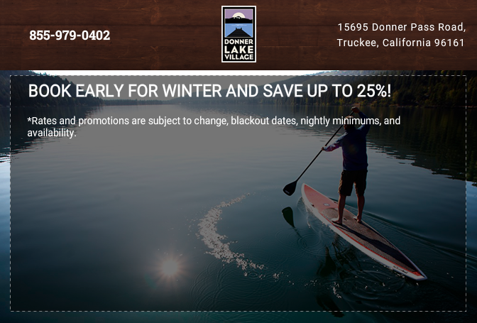 Book Early for Winter and Save up to 25%!