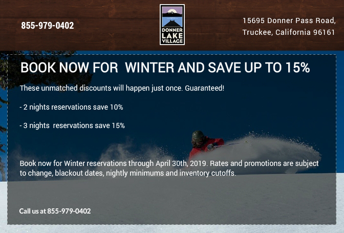 Book Now for  Early Winter and Save up to 15%