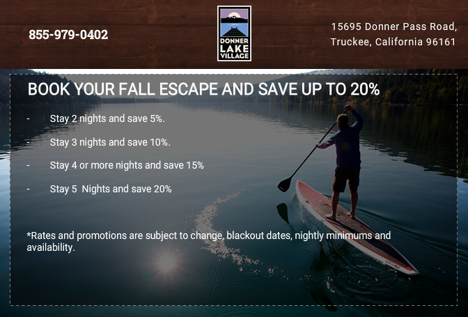 Book your Fall Escape and Save Up to 20%