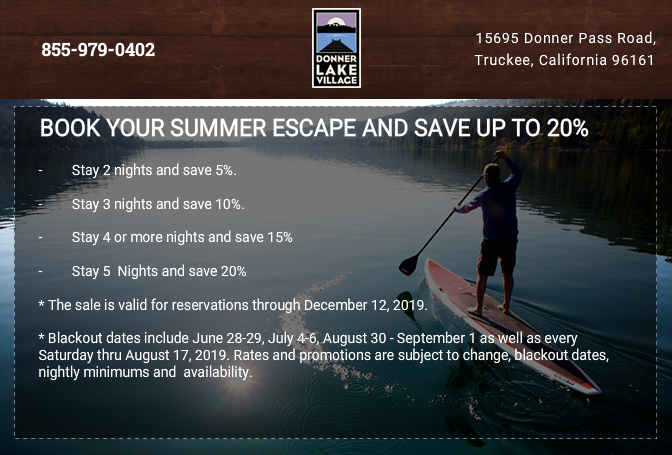 Book your summer escape and save up to 20%
